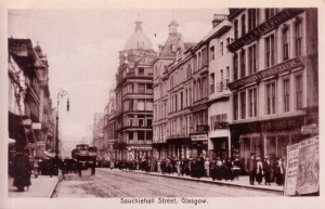 Sauchiehall-Street-Looking-East-from-Rose-Street-Glasgow